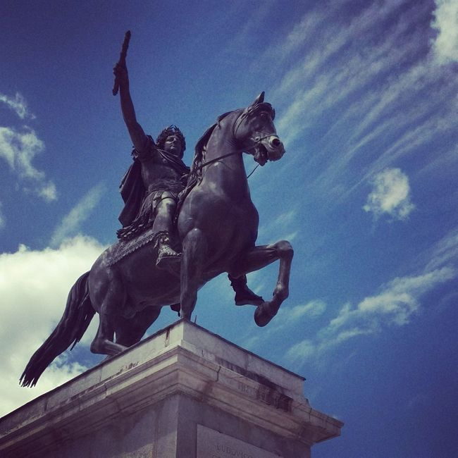 Blue Sky France Montpellier Louisxiv Letatcemoi Monument Statue Horse King Absolutism Monarch Historical Monuments