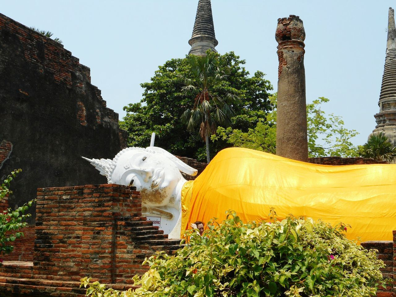 Religion Cultures Pagoda Spirituality Built Structure Tailandia Travel Buda Ayyuthaya Travel Destinations Thai Thailand Buddhism Buddha Statue Ayutthaya Historic Park Ayutthaya Tailandia. Buddhist Buddha Sculpture Clear Sky Spirituality Architecture Buddhist Temple Budismo