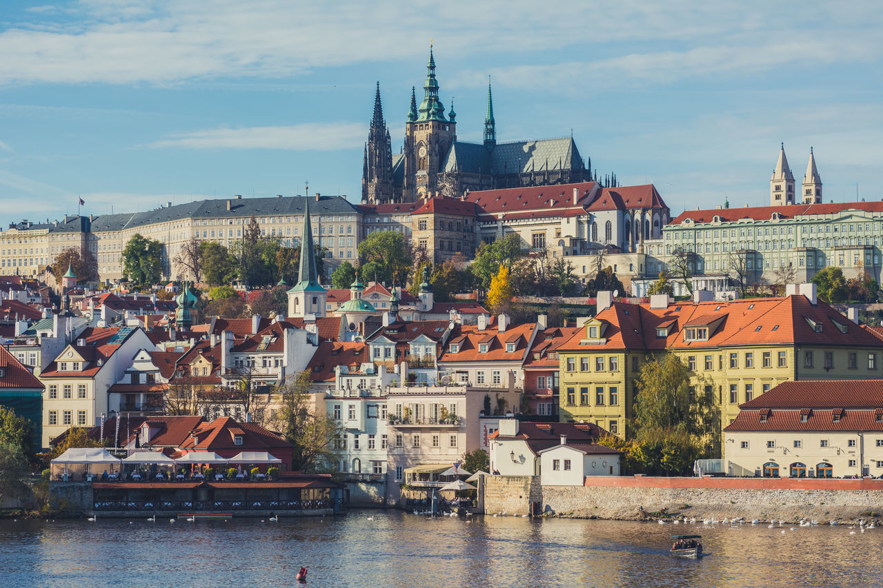 Charles Bridge Prague and Prague Castle Architecture Architecture Autumn Bridge Building Exterior Charles Bridge Cityscape Colors Czech Republic Czechia Europe Fall History Karlovy Vary Leaves Most Prague Prague Castle Praha River Sky Tourism Travel Travel Travel Destinations