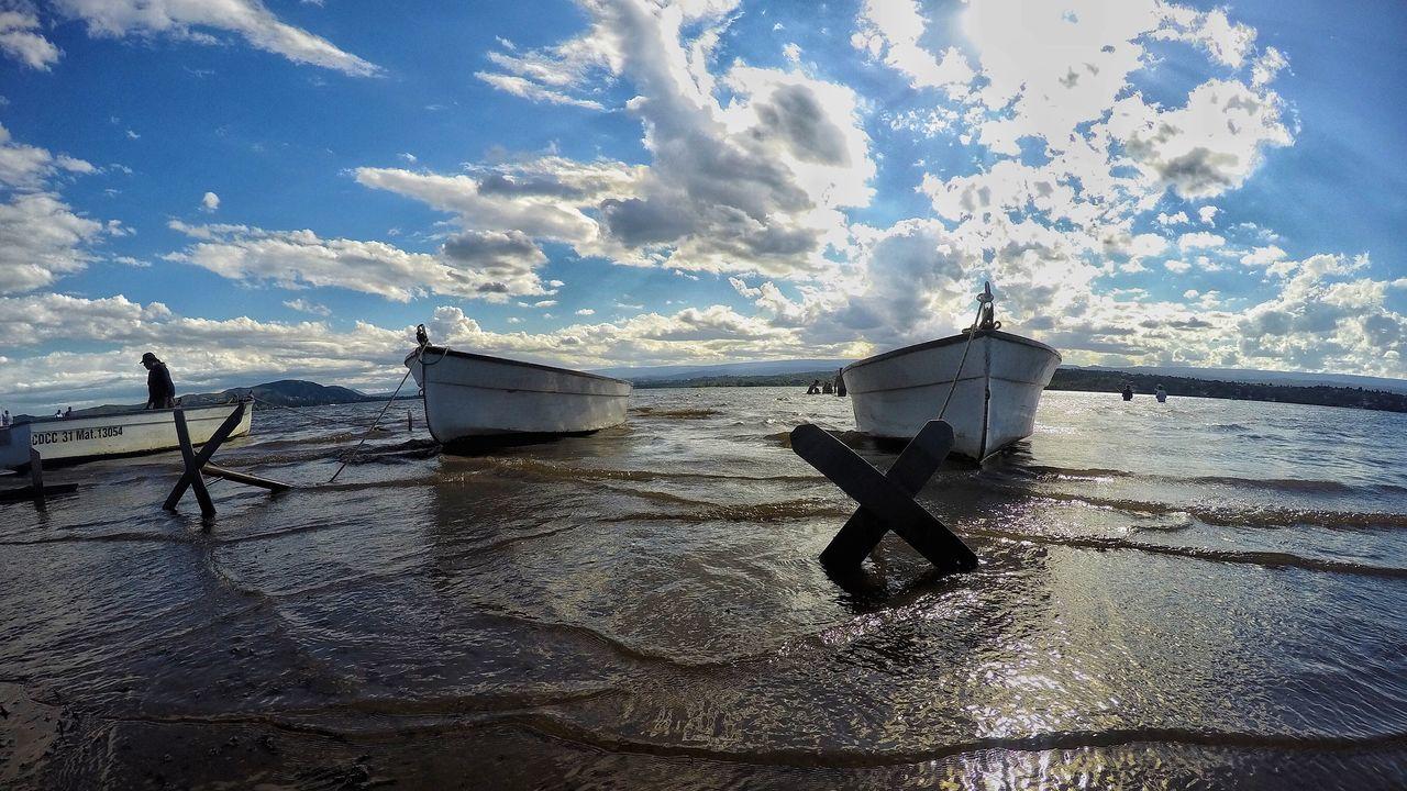Sky Water Cloud - Sky Nautical Vessel Nature Beach Outdoors Sunlight Boat Gopro Fishing Fishermen