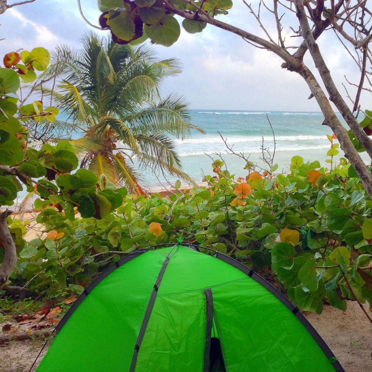 Camping Enjoying Life Caribbean Sea