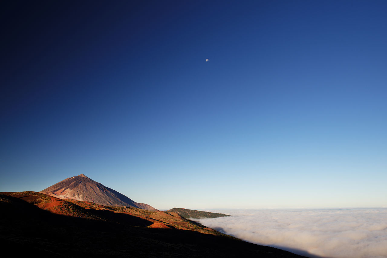 Nikon D810, Nikon 24-70mm f 2,8 ED Holiday Landscape Light Mountains Relax Relaxation Sunset Teide Teide National Park Teide Volcano Tenerife Tenerife Island Tranquil Scene Tranquility Travel Travel Photography Vacation