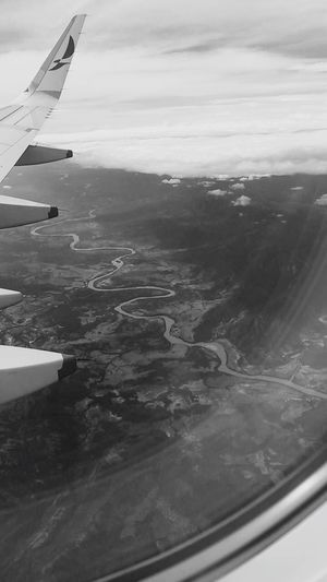 From An Airplane Window Airplane Window River Colombia Rio Magdalena