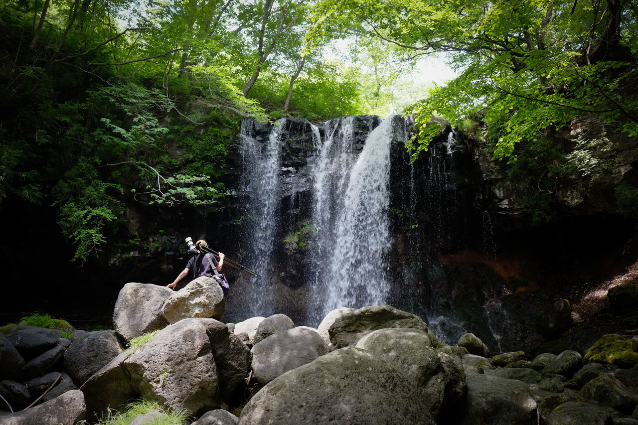 Nasu, Tochigi, Japan. Beauty In Nature Day Flowing Flowing Water Forest Green Color Japan Motion Nature Non Urban Scene Non-urban Scene Outdoors Plant Rock Rock - Object Rock Formation Scenics Tourism Tranquil Scene Tranquility Travel Destinations Tree Water Waterfall People And Places