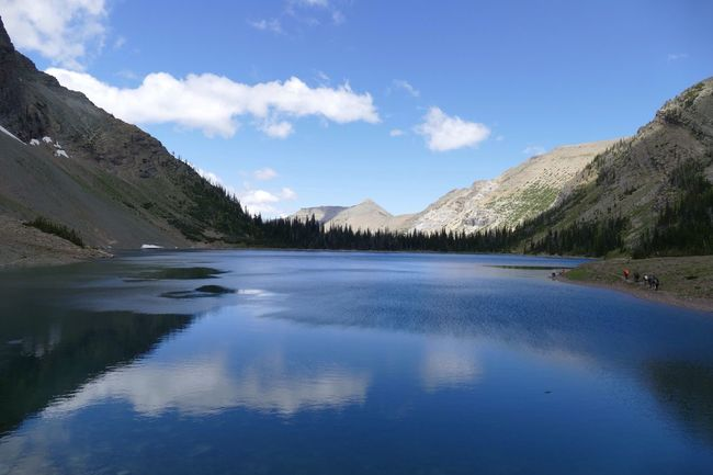 Showcase July Crypt Lake, Waterton National Park, Alberta, Canada, a fine day in mid-July! Waterton National Park Water Reflections Lake Clouds Shoreline High Country Blue Pure My Favorite Place