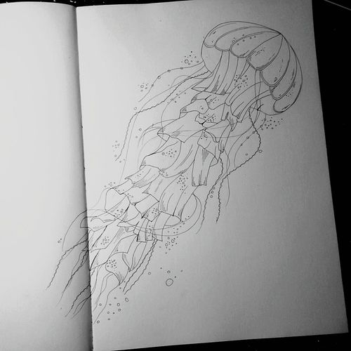 рисунок Tattoo Tattoo Design Art Sketch эскизы медуза Jellyfish