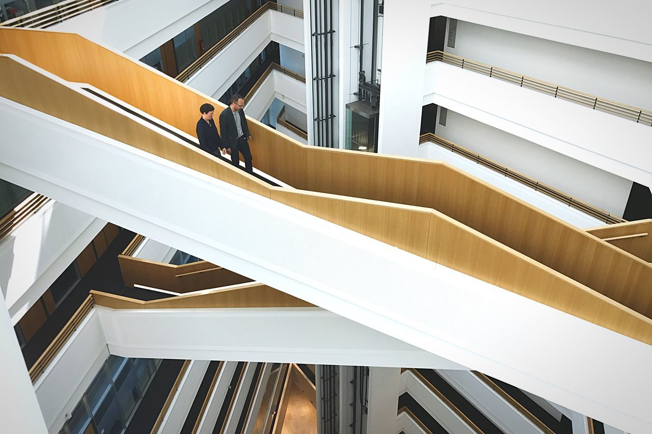Architecture Staircase Railing Steps And Staircases Built Structure Steps Modern The Architect - 2017 EyeEm Awards High Angle View Indoors  Window No People Spiral Staircase Building Exterior Futuristic Day