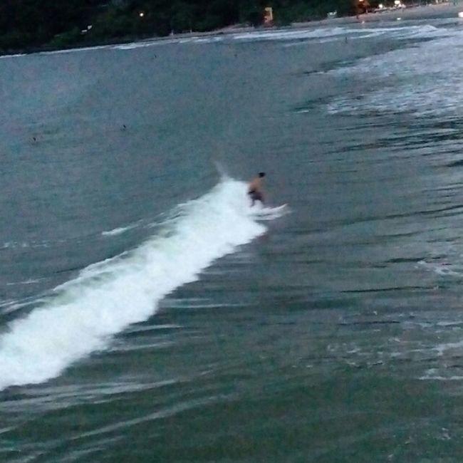 Monday, enjoyed a wave!