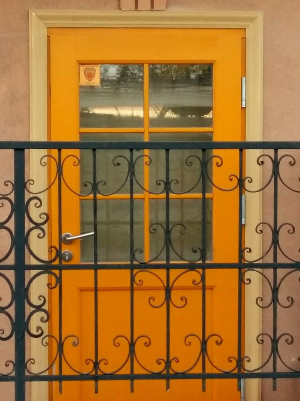 EyeEm Selects Built Structure Door Architecture No People Day Building Exterior Yellow Hinge Outdoors Close-up Golf Club