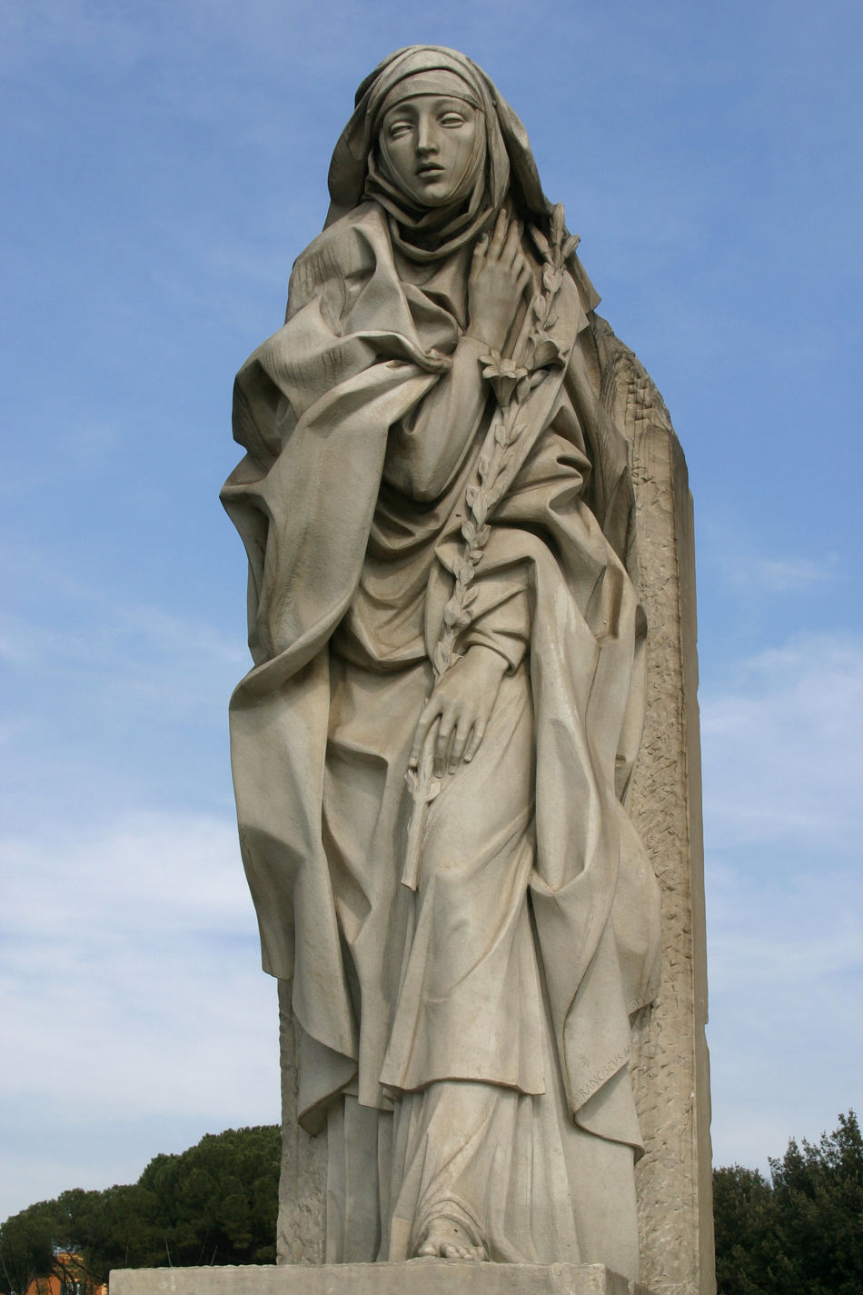 Saint Catherine of Siena, statue in Rome Art Carving - Craft Product Catherine Catherine Of Siena Christianity Creativity Faith Historic Monument Religion Rome Saint Sculpture Siena Statue