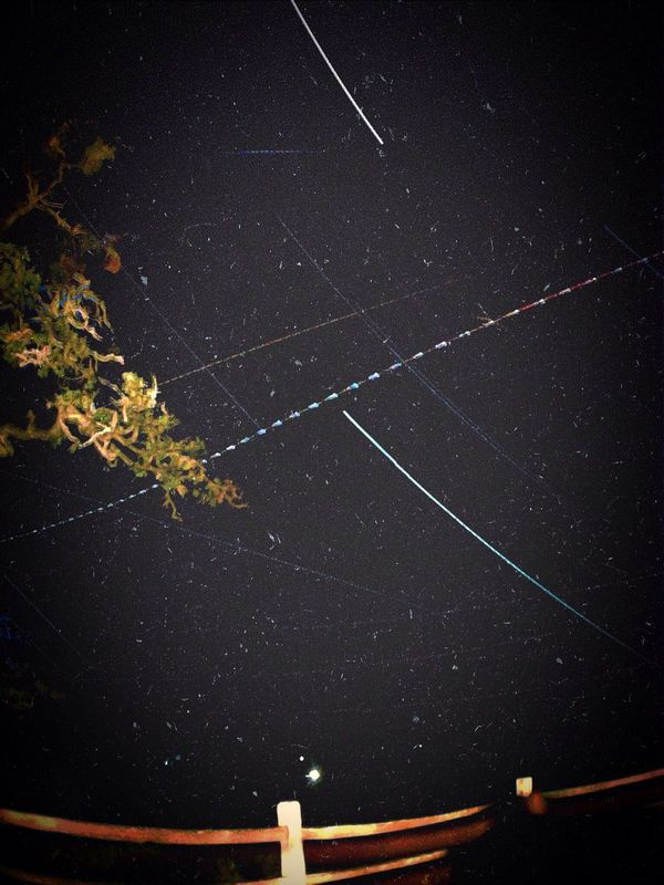 Watching the stars, the planes, and the ISS fly over. IPhoneography Astrophotography Space Stars