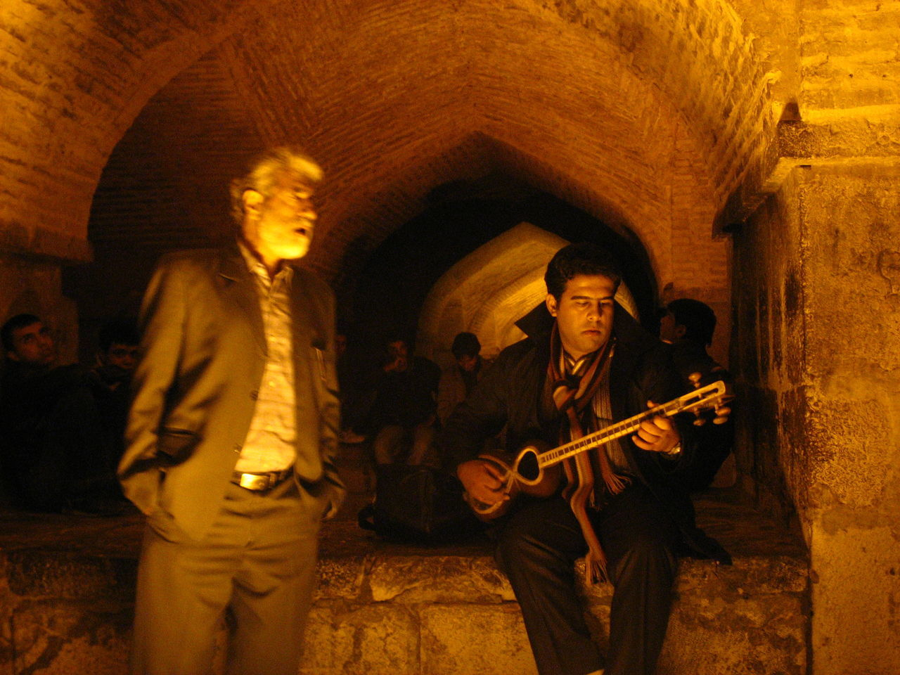 Street singing under KHAJOO Bridge in ISFAHAN, IRAN. Abstract Freedom Canon No Comment Iran Landscape People Portrait Lifestyle Emotion Humans Abstract Photography Human HUMANITY Roud Portraits Human Face Street Streetphotography Street Photography Street Art Music Culture