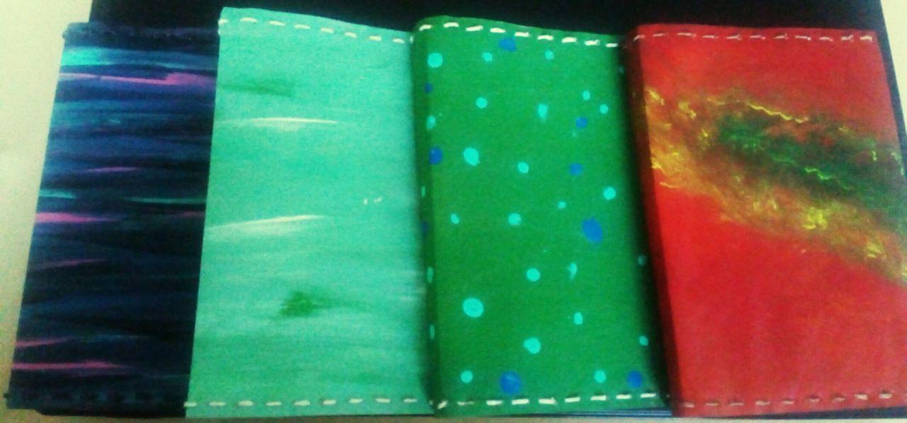 Book Binding Multi Colored Artesanal Handmade First Book