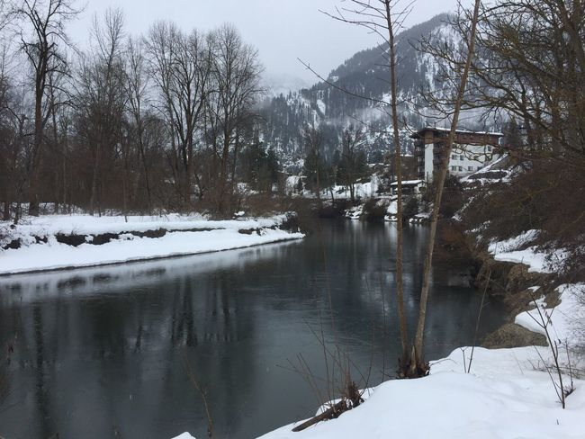 Winter Snow Cold Temperature Season  Bare Tree Water Tranquil Scene Tranquility Weather Reflection Tree Scenics Cold Frozen Nature River Snow Covered Building Exterior Non-urban Scene Beauty In Nature