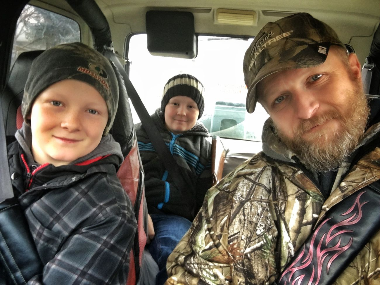 """""""Boyz in da Woodz"""" my two best buddies! Selfie ✌ Woods Hunting Oregon Southernoregon Sons Dad Fathersontime Father & Son Father Son Bonding Mountains Guns"""