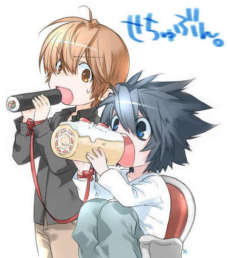 Yagami and Ryuuzaki Death Note