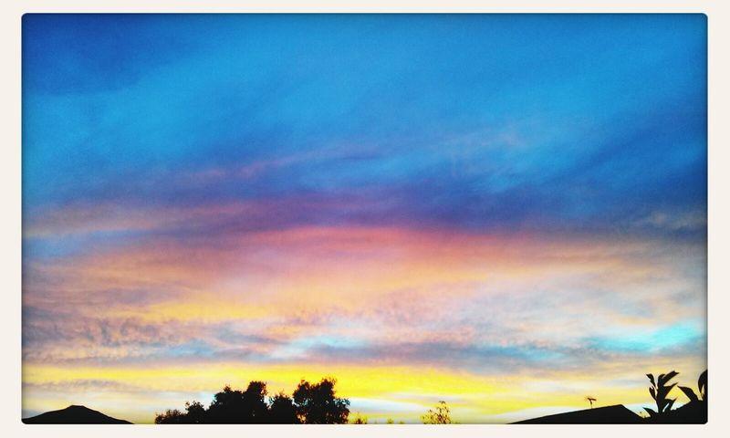 Sunset Hello World Colorful