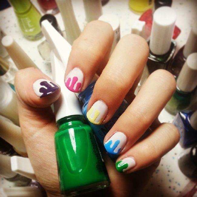 Dripping paint Nailart  @cutepolish Cutepolish