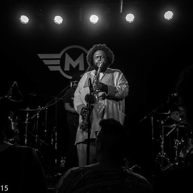 Kamasi Washington Blackandwhite Awesome Performance