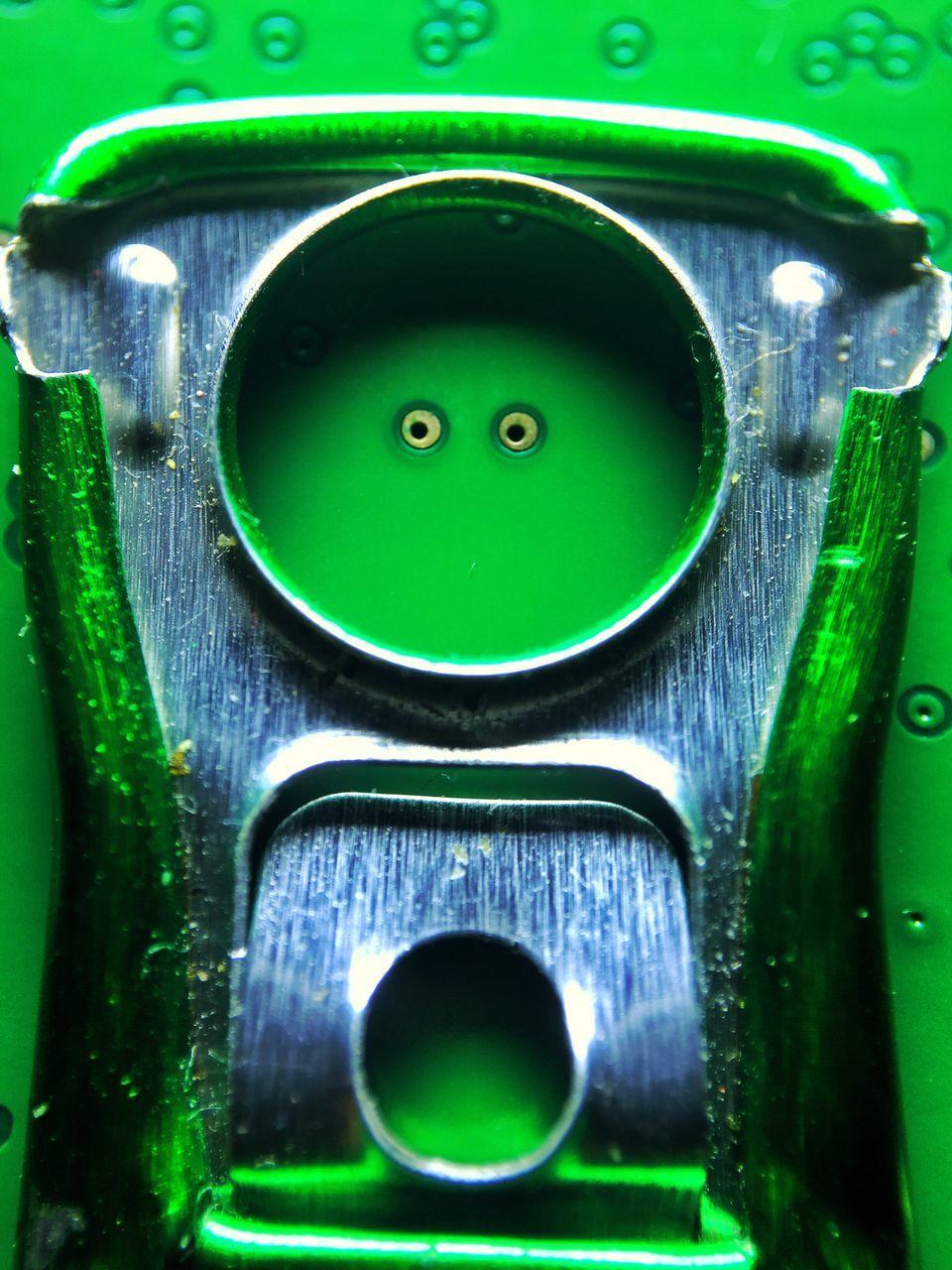 Close-Up Of Green Machinery