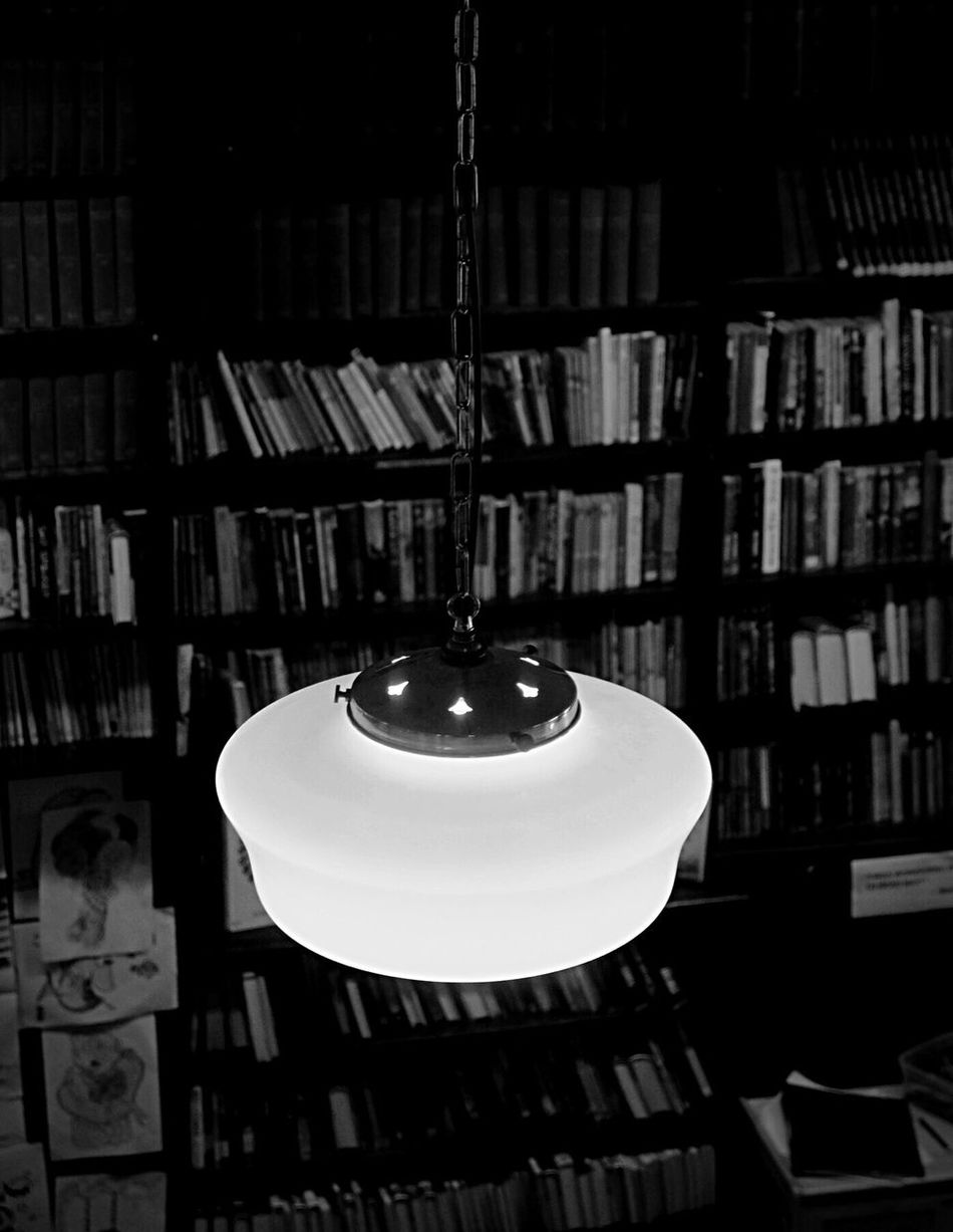 Indoors  Lighting Equipment Pendant Light No People Bookshelf Illuminated Close-up Library Day Fujifilm_xseries Fujifilm Belfast Blackandwhite Photography
