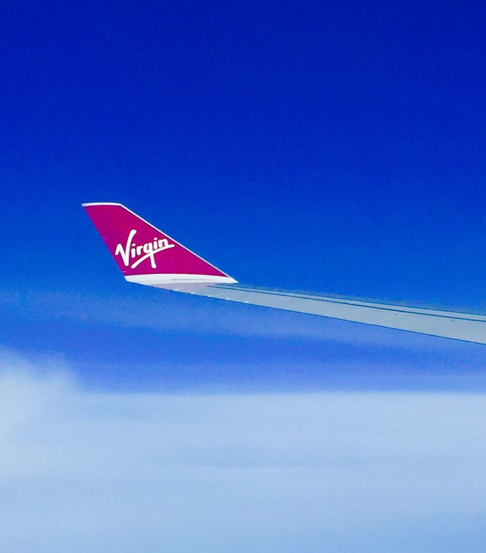 Travel Photography Traveling Sky Red Blue From My Point Of View No People Air Vehicle Eye4photography  Iponeonly EyeEm Hello World EyeEmBestPics Airplane EyeEm Best Shots Instamood Mode Of Transport Outdoors Commercial Airplane Day Low Angle View Nature Close-up virfi Virgin Atlantic Intheair