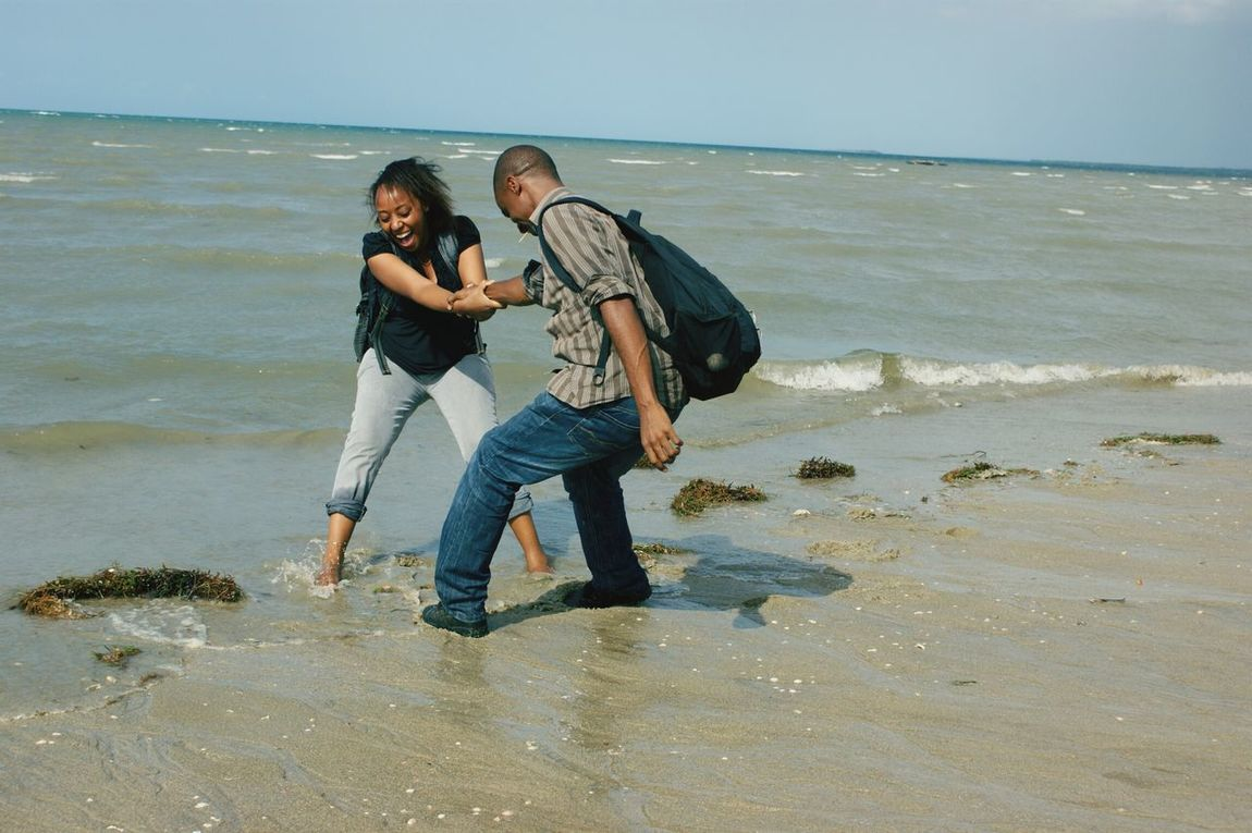 I Double Dare You By The Ocean Ocean Indian Ocean Fooling Around Bagamoyo, Tanzania People Of The Oceans