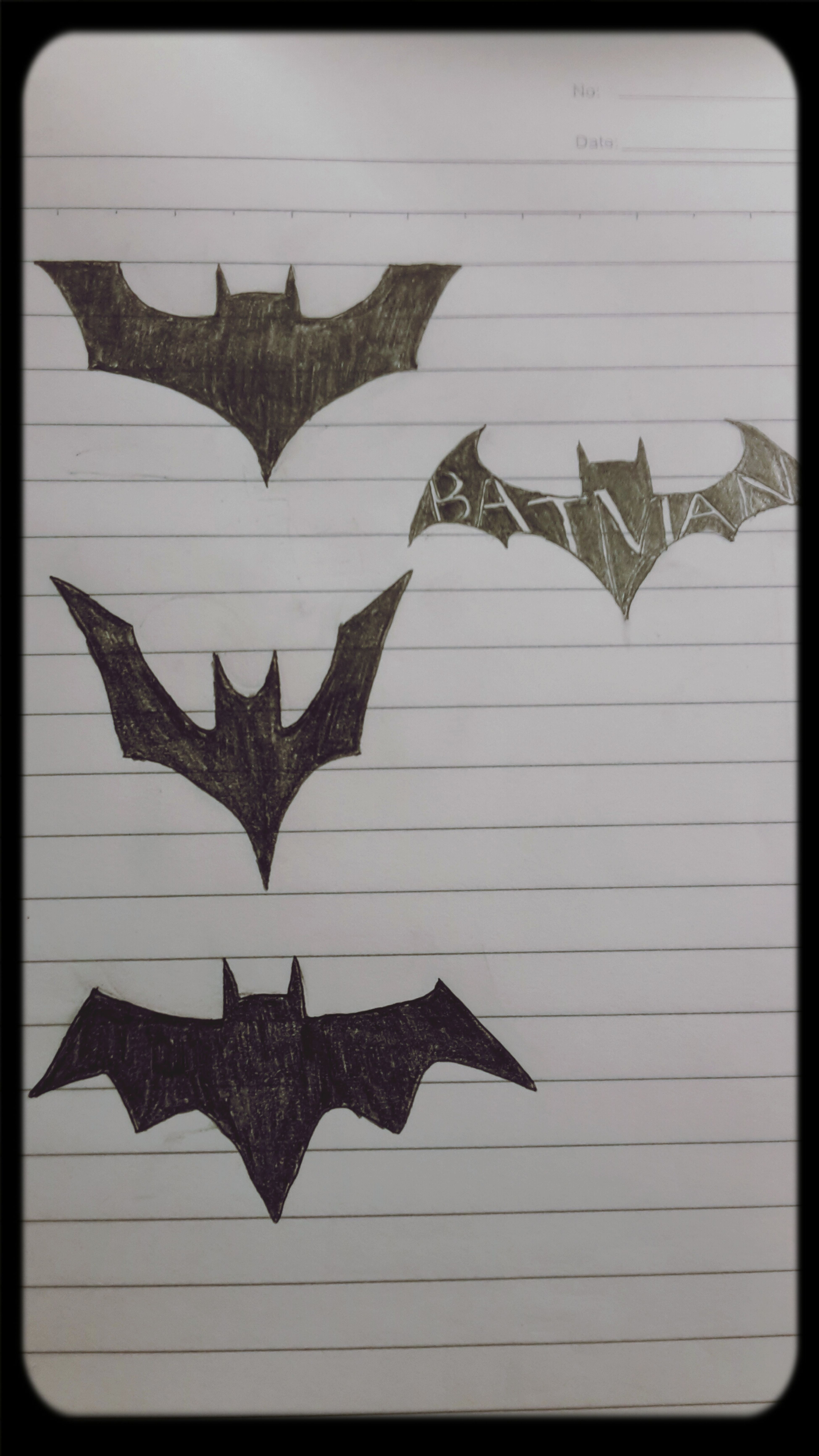 I was bored in class and I drew these Batman Sketch IIUM UNGS