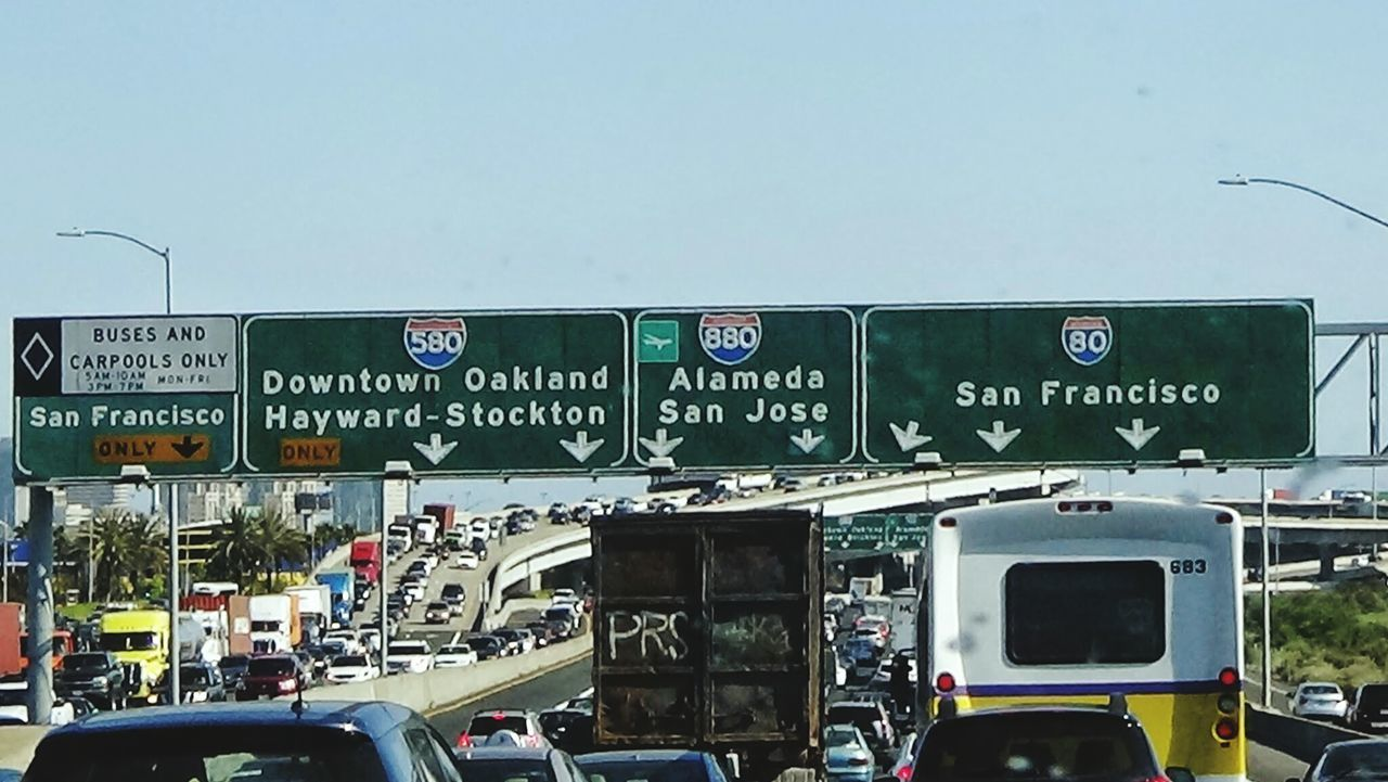 Freeway Sign Sanfrancisco Oakland Bay Area Northern California Bay Living