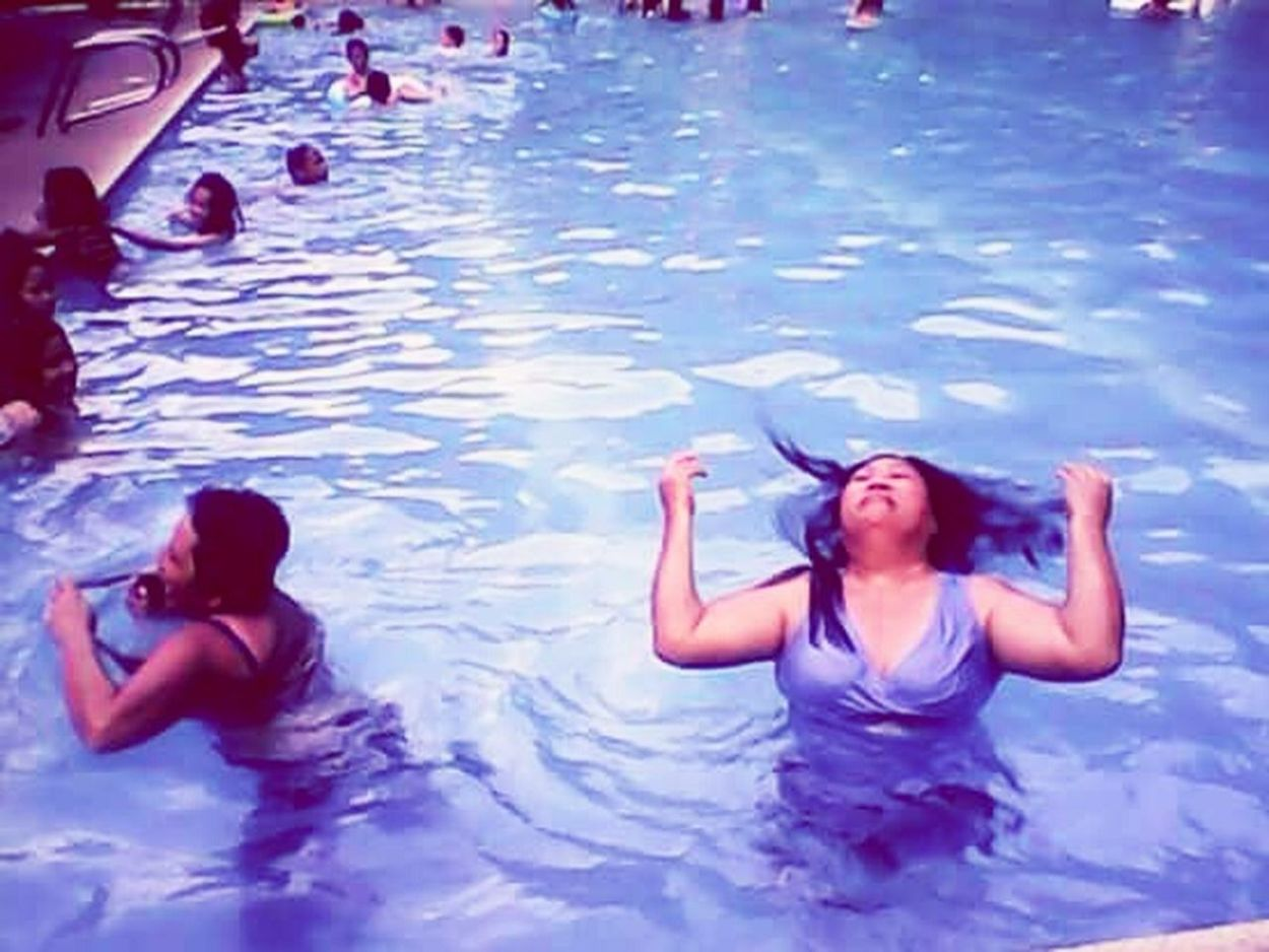 Summer Views Throwback Pool Hair Blue Summertime Feel The Moment 16th Eyeem Photo