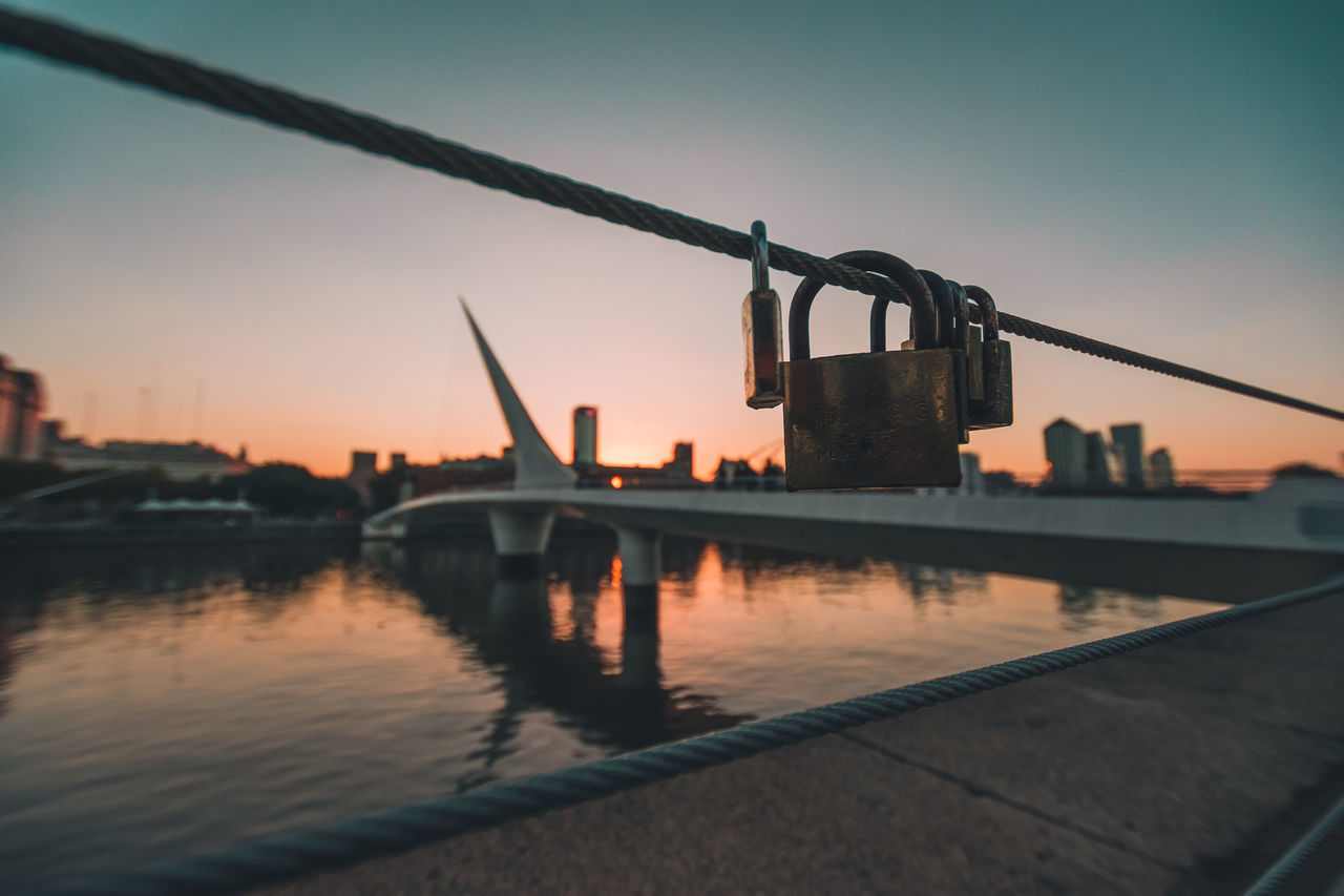 sunset, water, sky, no people, river, outdoors, building exterior, clear sky, architecture, built structure, city, nature, close-up, day
