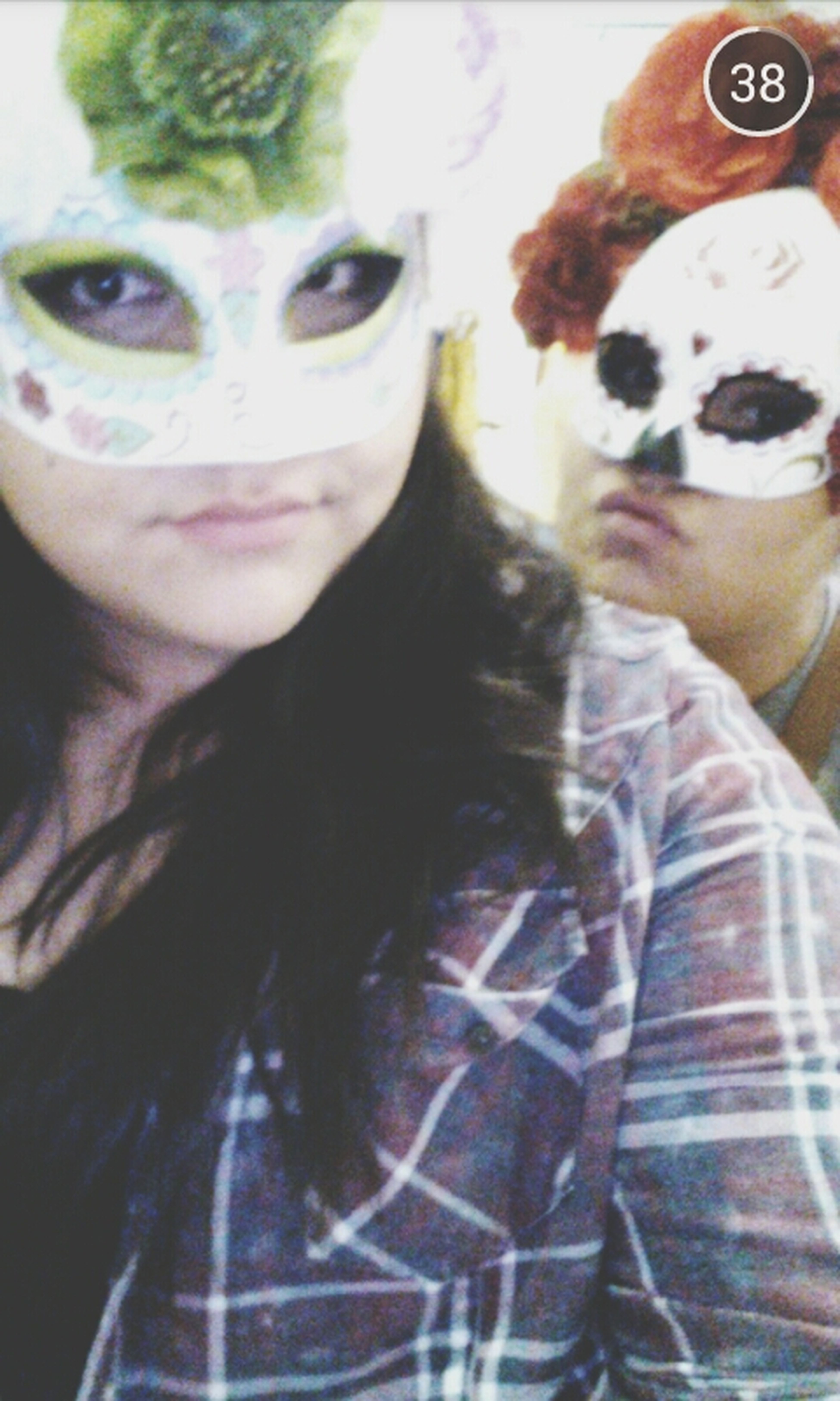seester and i sporting some masks