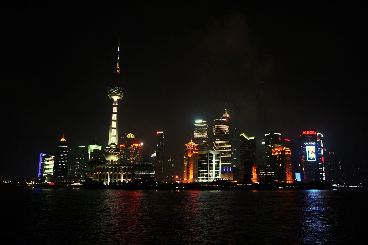 Shanghai night! Architecture Building Exterior Tall - High Built Structure Illuminated Night Travel Destinations Water Waterfront City Sky Travel Skyscraper No People Outdoors River Modern Urban Skyline Cityscape Shanghai Shanghai, China Shanghaibund