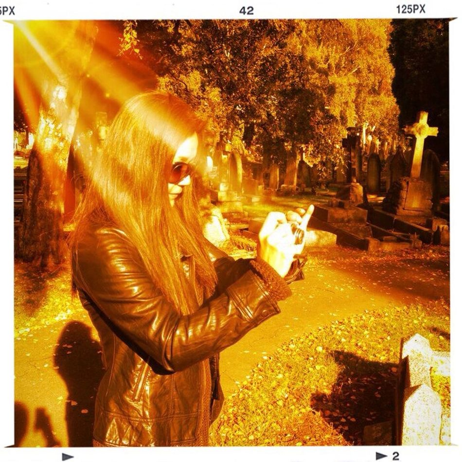 What we do: Hanging out in cemeteries...