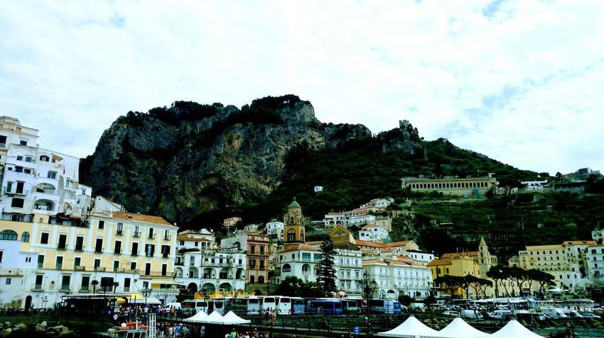 Cloud - Sky Architecture Outdoors Tree Mountain Sky No People Day Building Exterior Built Structure Cityscape City Nature Amalfi Coast