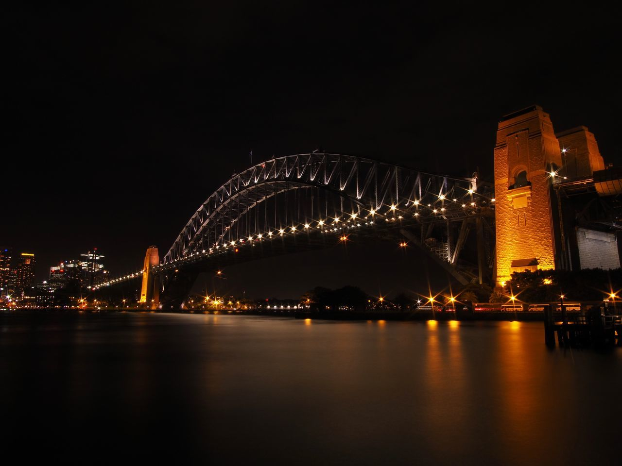 night, architecture, city, illuminated, bridge - man made structure, built structure, river, building exterior, water, cityscape, sky, outdoors, no people, midnight