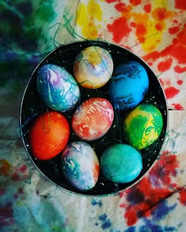 Happy Easter! Easter Ready Easter Easter Eggs Tiedye Tiedyed HippyChic Having Fun DIY Bright Colorful Taking Photos PNW Hippie ✌ Hippie Chic