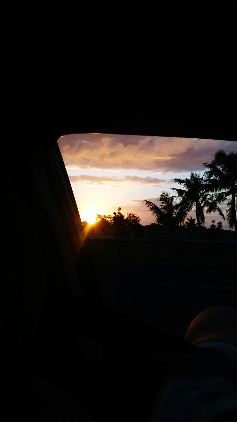 Car view Guamsunset Guam GUAM..a Place I Call Home