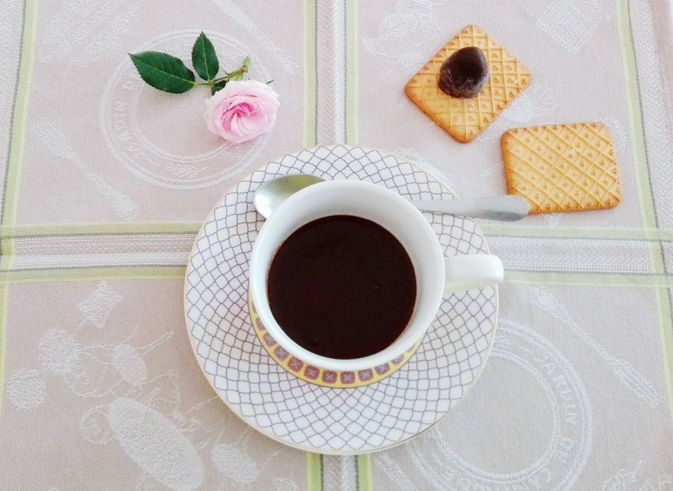 My Favorite Breakfast Moment Ciocolate Rose🌹 Biscuits🍪 Romantic❤ Breakfast Relaxing Good Morning Flower Vegan Vegan Food