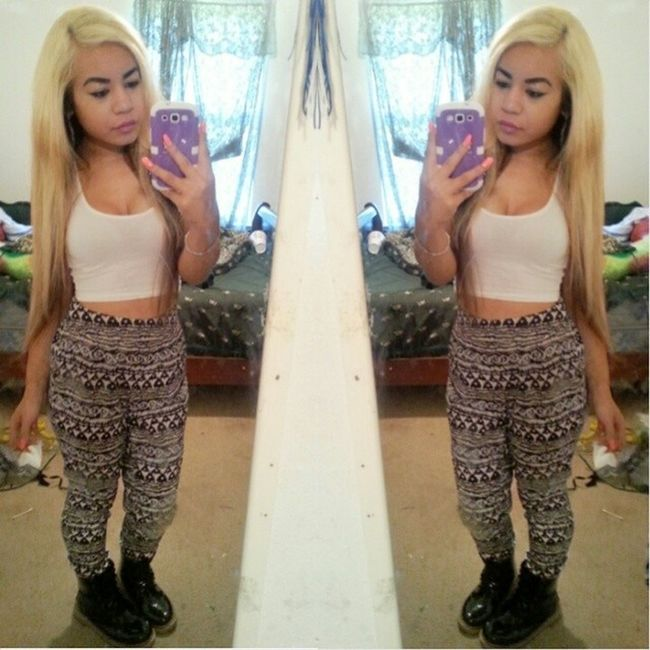 They don't know. They don't know. Khmer Khmerican Asian  Cambodian selfie ootd croptop harempants combatboots boots yellowskin Jacksonville florida shopping outtoeat