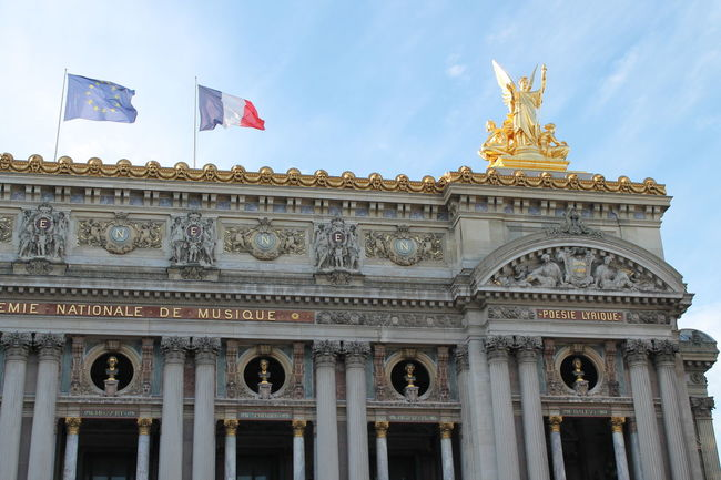 Architecture Architecture Blue Sky Building Building Exterior Details Famous Place Flag French Flag National Flag Opera Garnier Opéra Paris Paris Je T Aime Paris Opera Paris ❤ Paris, France  Patriotism Summer Travel Destinations