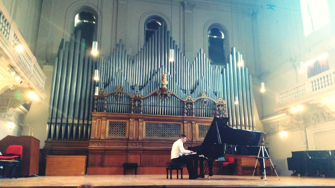 Architecture Religion Spirituality One Person Musical Instrument Concert Hall  Piano🎶