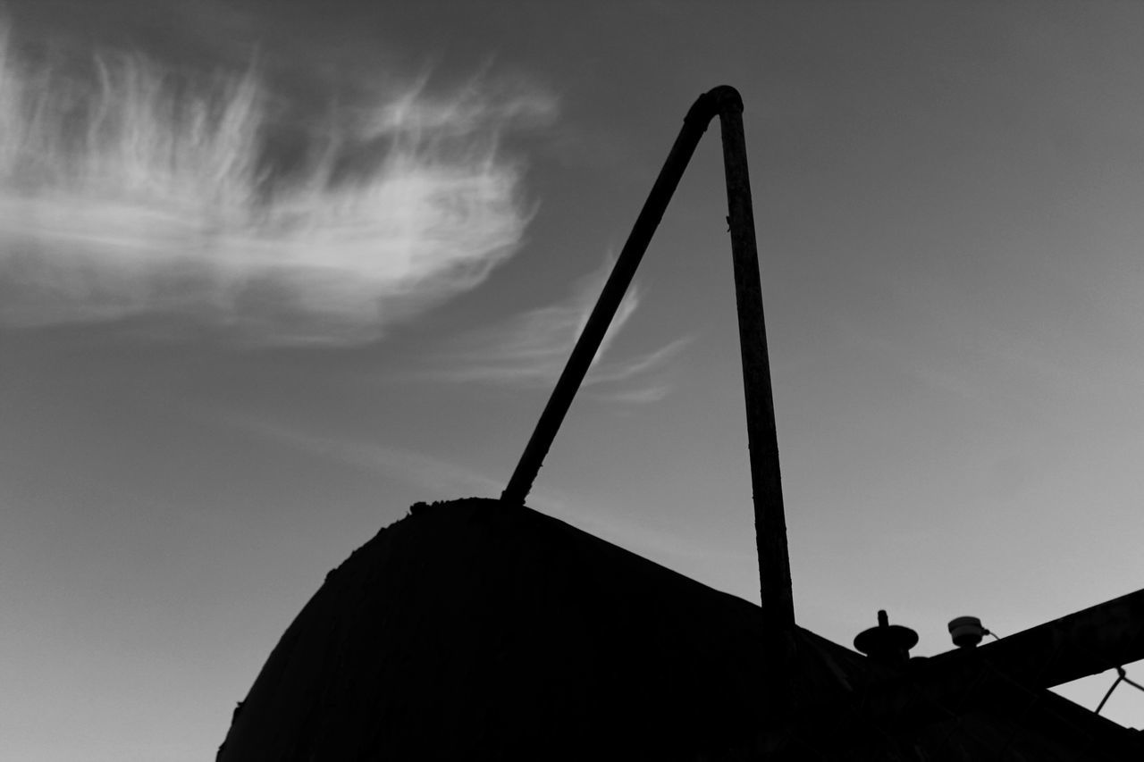 Silhouette Cloud - Sky Low Angle View Sky Industry No People Day Outdoors Devon UK No People, Industrial Landscapes Blackandwhite Monochrome Photography