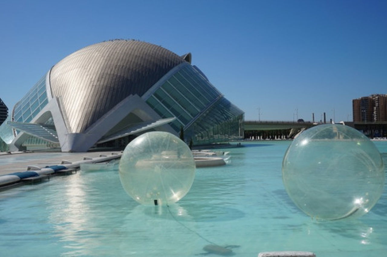Water Outdoors Day Blue Architecture No People Sky Oceanographic Bubbles SPAIN