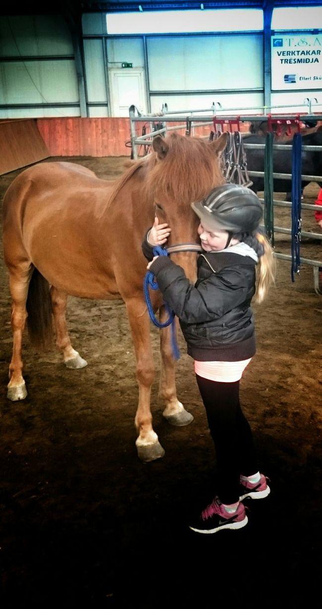 Mánagrund My Daughter ♥ her Bestfriend Red Taking Photos Enjoying Life I Love Horses