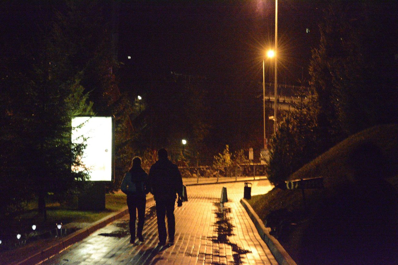 Magic Moments Two People Night Street Light Real People Outdoors Togetherness Great Atmosphere Relaxing Ukraine Rainy Days Taking Photos Enjoying Life Travel Wonderful Moment Always Be Cozy