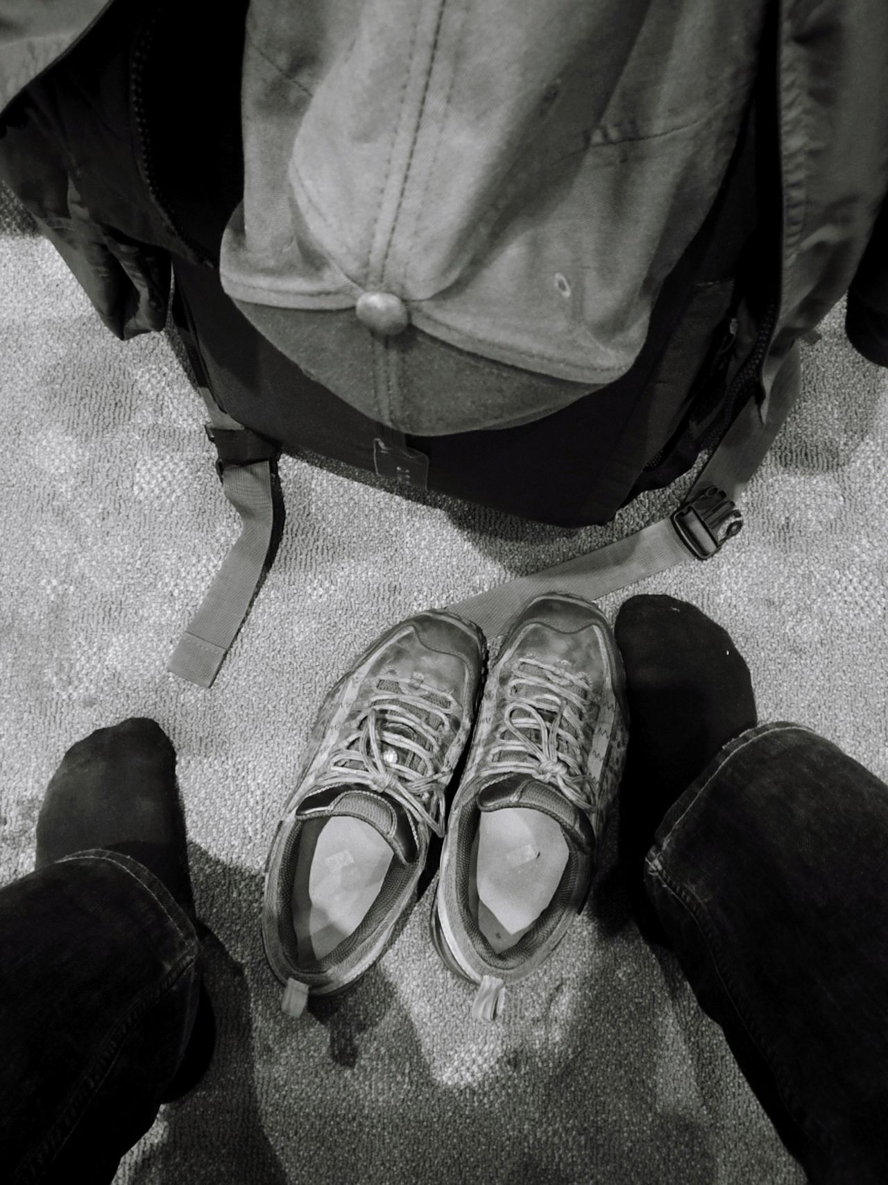 Low Section One Person Shoe Lifestyles Adults Only Human Leg Real People Human Body Part Adult Indoors  Blackandwhite Photography Blackandwhite Light And Shadow Day Travel Destinations Goodbye Beijing Old Shoes