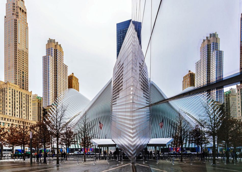Fulton center of NY Architecture City Building Exterior Built Structure Skyscraper Modern City Life Streetphotography Travel Destinations My Traveling Photography From My Point Of View My Street Photography Mirror Reflection Tower No People Cityscape