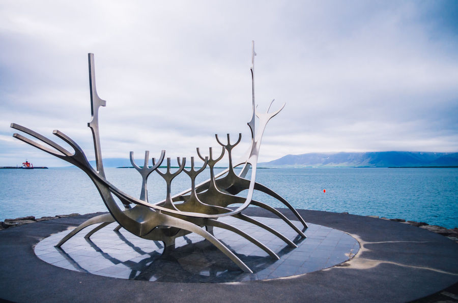 Popular monument in Iceland Reykjavik Beauty In Nature Cloud - Sky Country Day Famous Place Horizon Over Water Is M Nature Nautical Vessel No People Nori Norway Outdoors Reykjavik Scenery Scenery Shots Scenics Sea Sky Tranquility Wagon  Water
