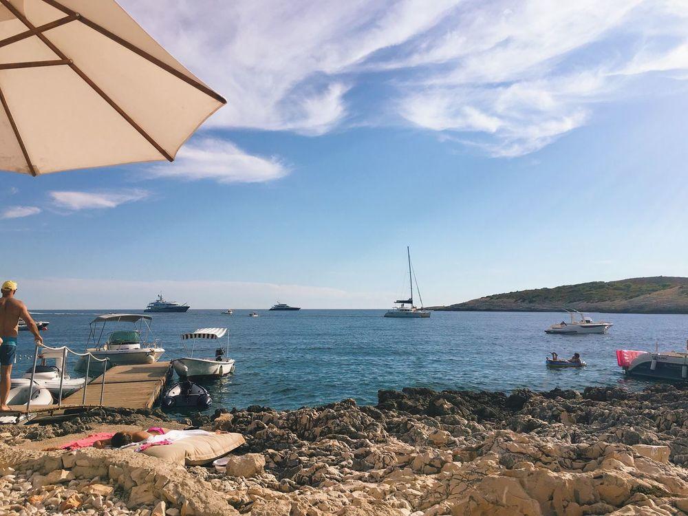 Hvar CarpeDiem  Croatia Beach Sea Boat Seascape Adriatic Sea
